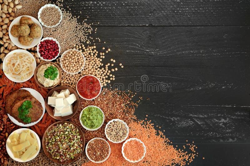 Légumes Contexte des aliments pour la santé Frontière photo stock