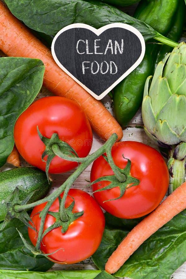 Légumes crus et nourriture propre des textes photos libres de droits