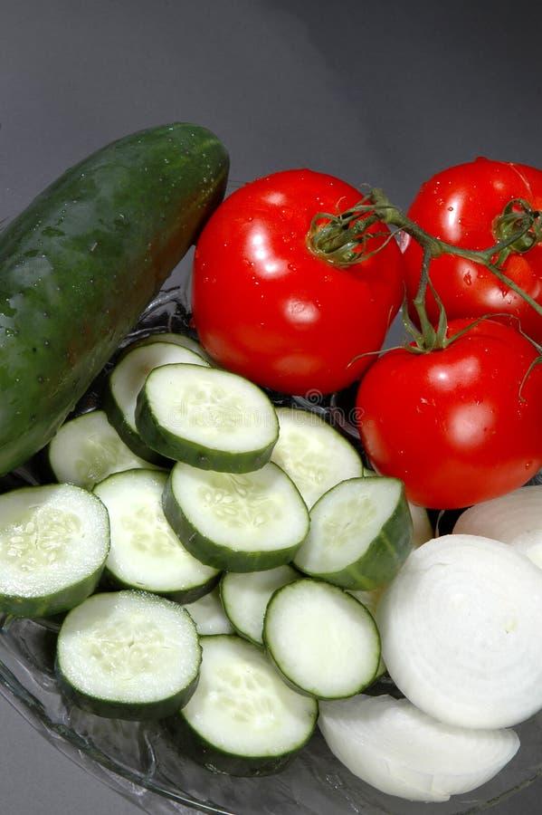 Légumes découpés en tranches image libre de droits