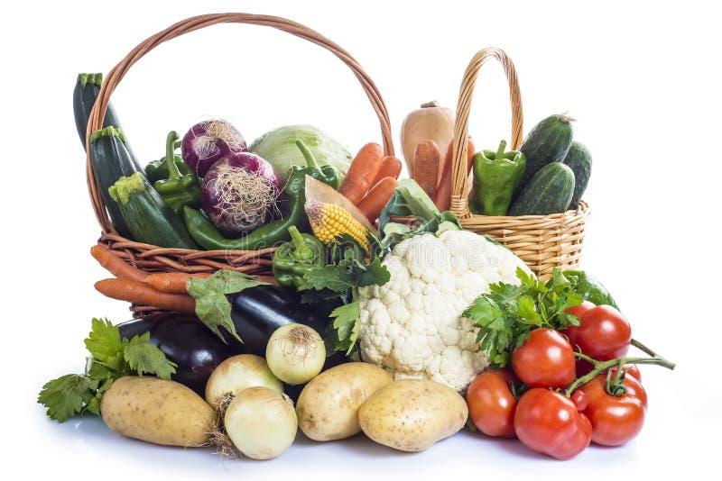 Légumes d'isolement sur un fond blanc photos stock