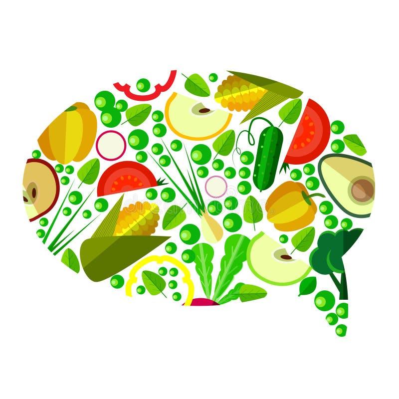 Légumes dans le symbole illustration de vecteur