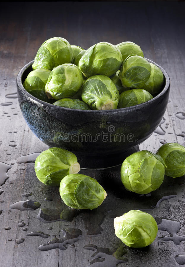 Légumes de choux de bruxelles photo stock
