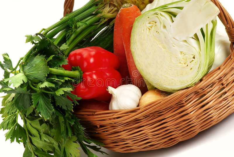 légumes de panier images libres de droits