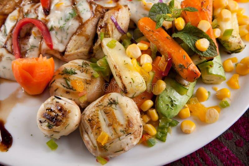 Légumes de poulet photo stock