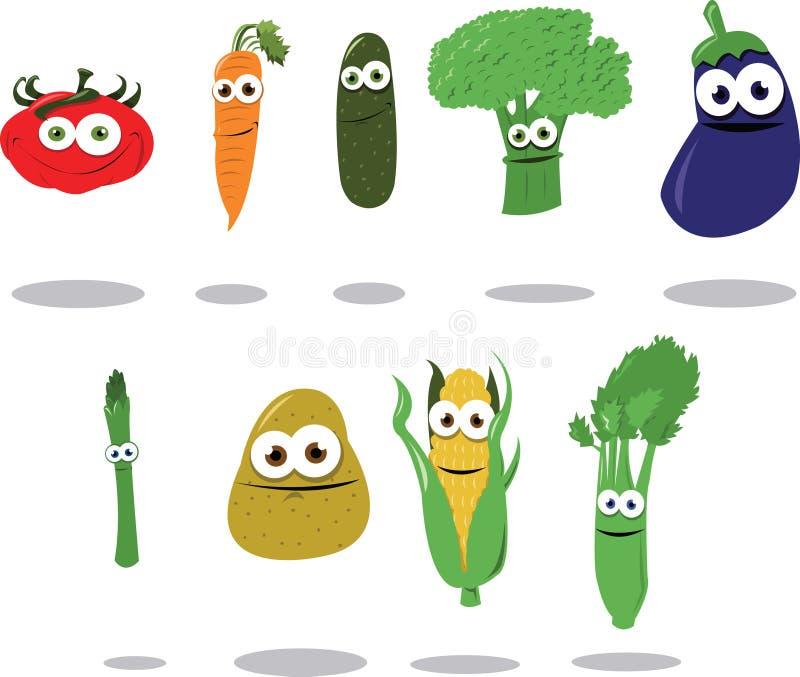 Légumes drôles illustration stock