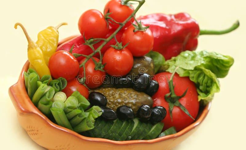 Légumes et conserves au vinaigre image libre de droits