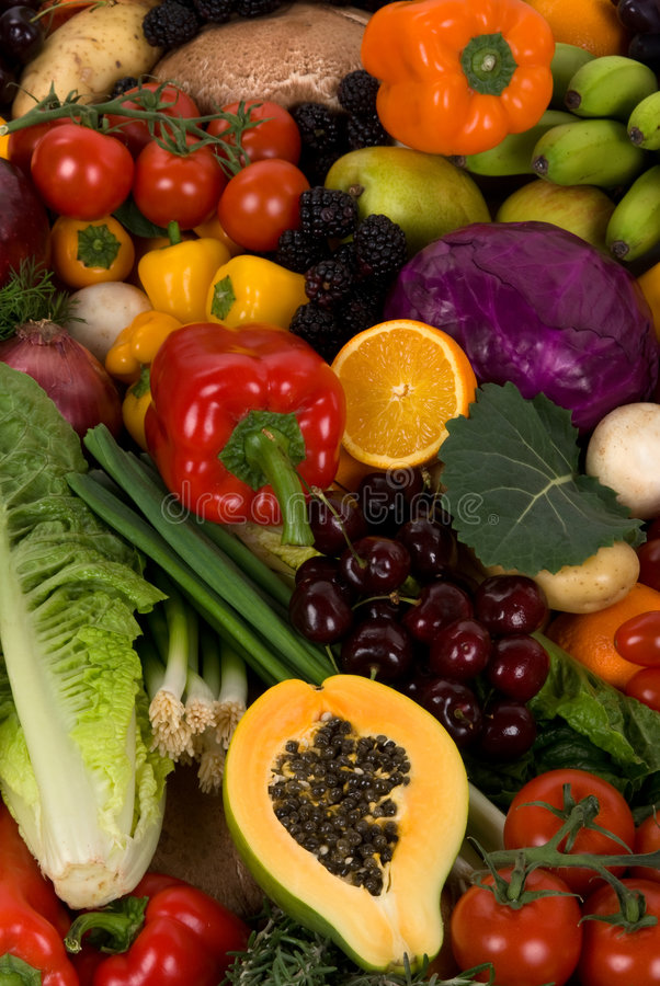 Légumes et fruits photos libres de droits