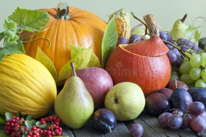 Légumes et fruits en automne photos libres de droits