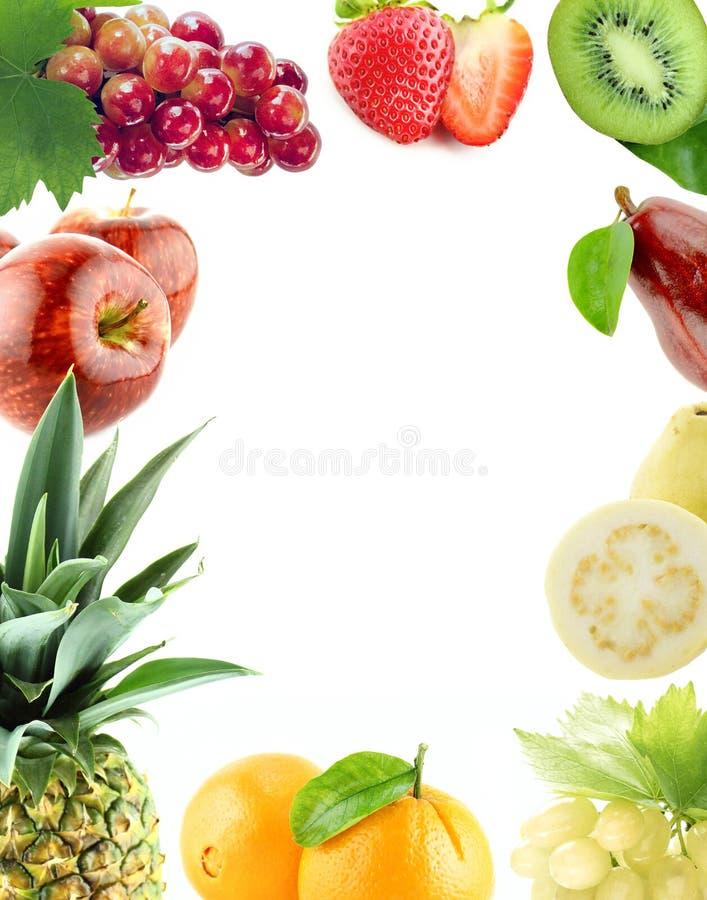 Légumes et fruits organiques sains images libres de droits