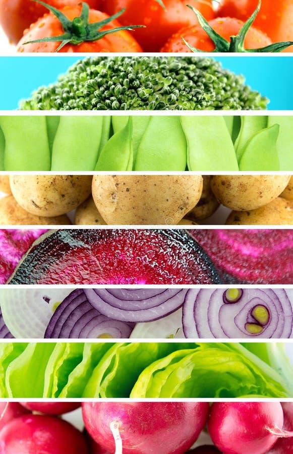 Légumes et fruits organiques sains images stock