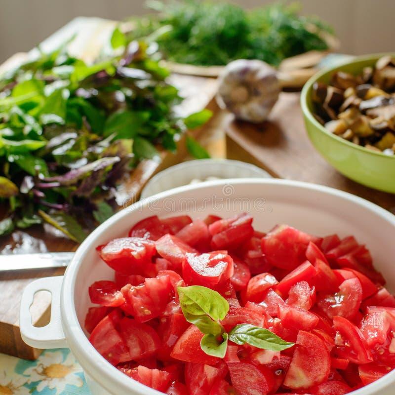 Légumes et herbes image stock