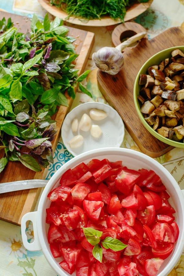 Légumes et herbes photos stock