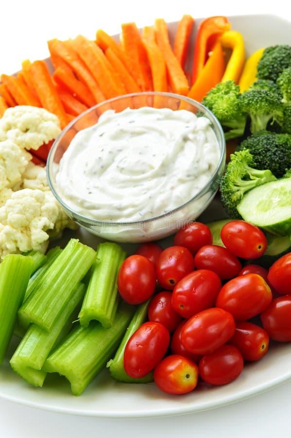 Légumes et immersion photo stock
