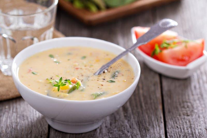Légumes et ragout de maïs photo stock