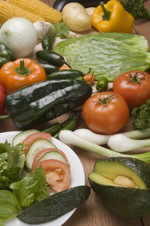 Légumes et salade photos stock