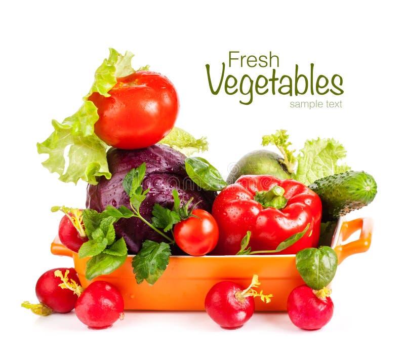 Légumes frais dans la cuvette image libre de droits