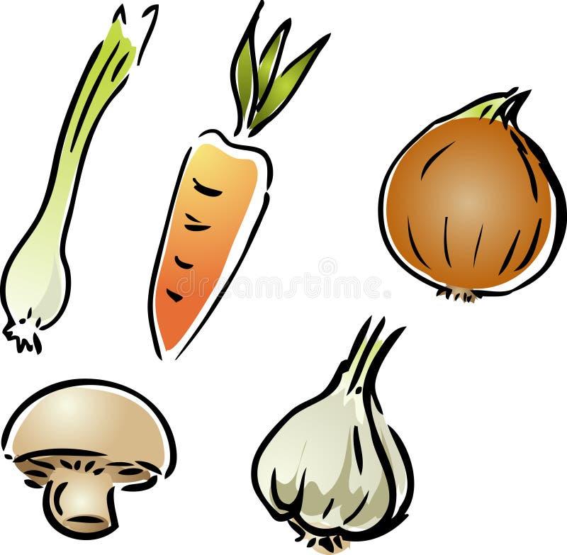 Légumes frais de jardin illustration libre de droits