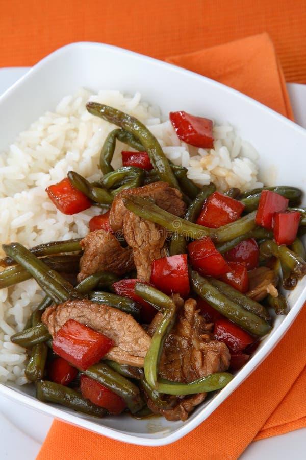 légumes mélangés de riz image stock