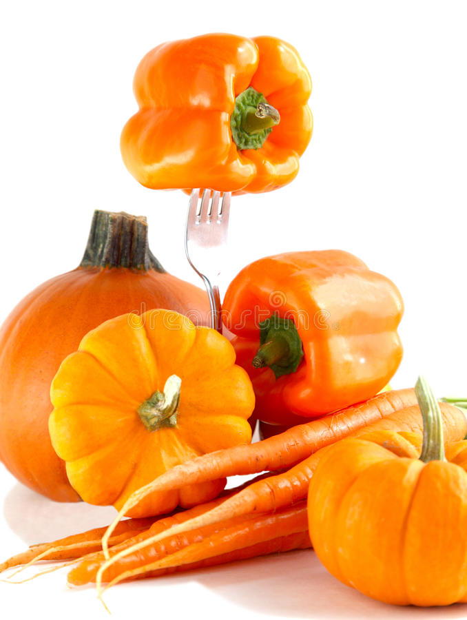 Légumes oranges frais image libre de droits