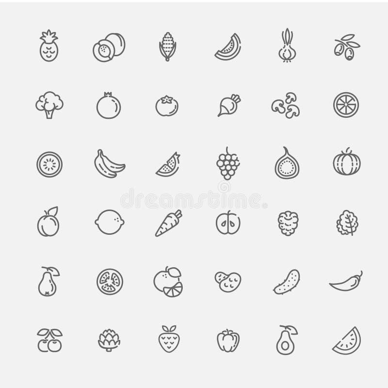 légumes réglés de graphisme de fruit illustration stock