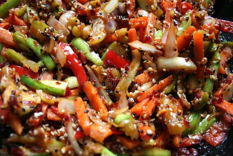 légumes Remuer-frits photographie stock libre de droits