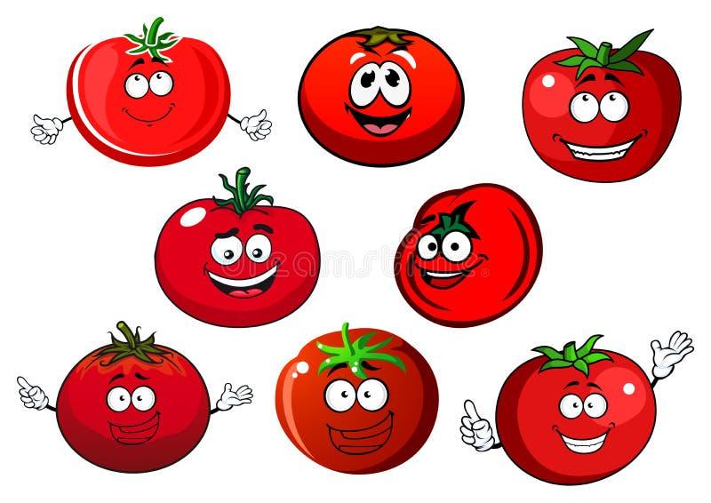 Légumes rouges mûrs de tomate illustration stock