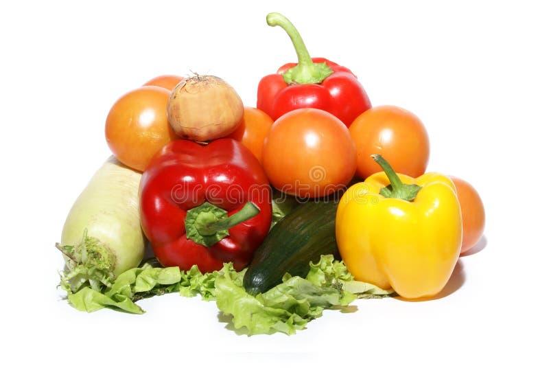 Légumes savoureux frais d'isolement sur le blanc image libre de droits