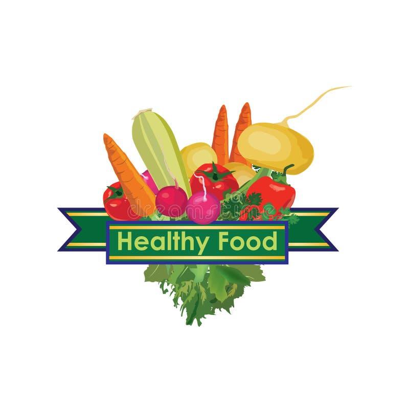légumes Signe sain de menu de nourriture illustration libre de droits