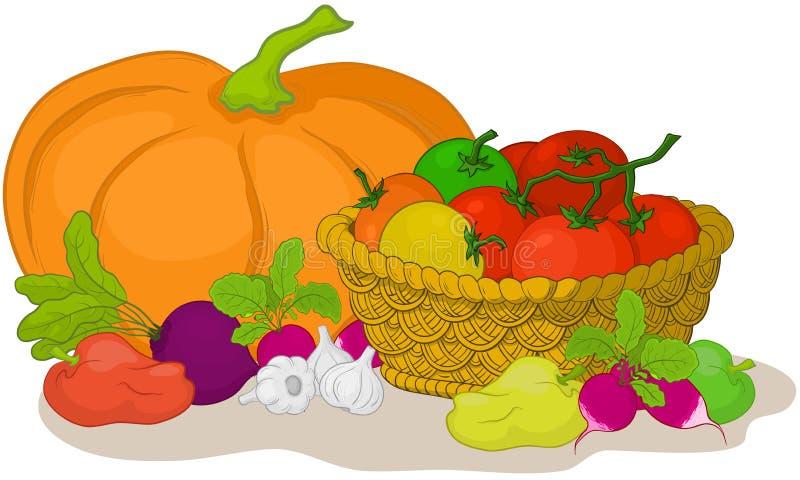 Légumes, toujours durée illustration de vecteur