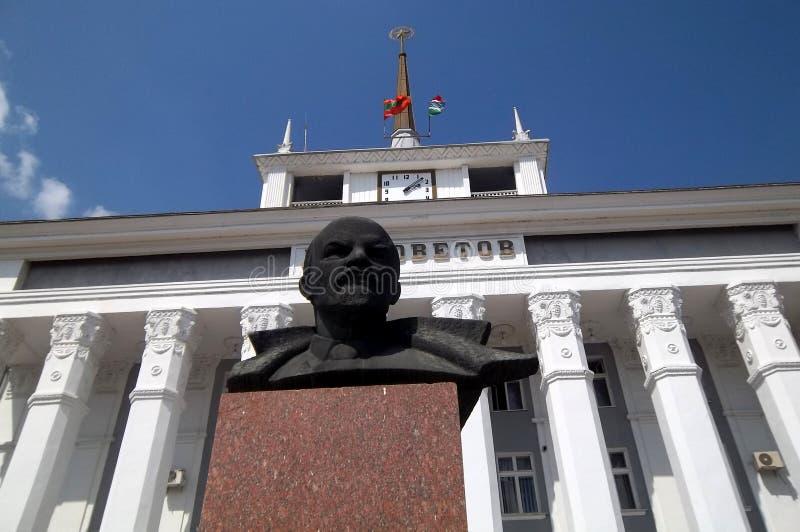 Lénine dans Tyraspol photo stock