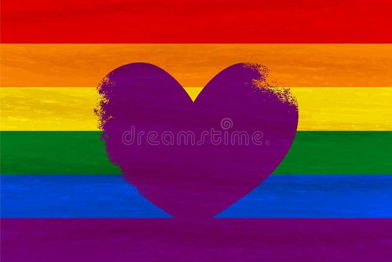 Lésbica, homossexual, bisexual, bandeira do orgulho do transgender LGBT Fla do arco-íris ilustração stock
