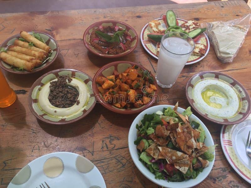 Líbano Beirute gosta da manhã do 🥘 do alimento foto de stock