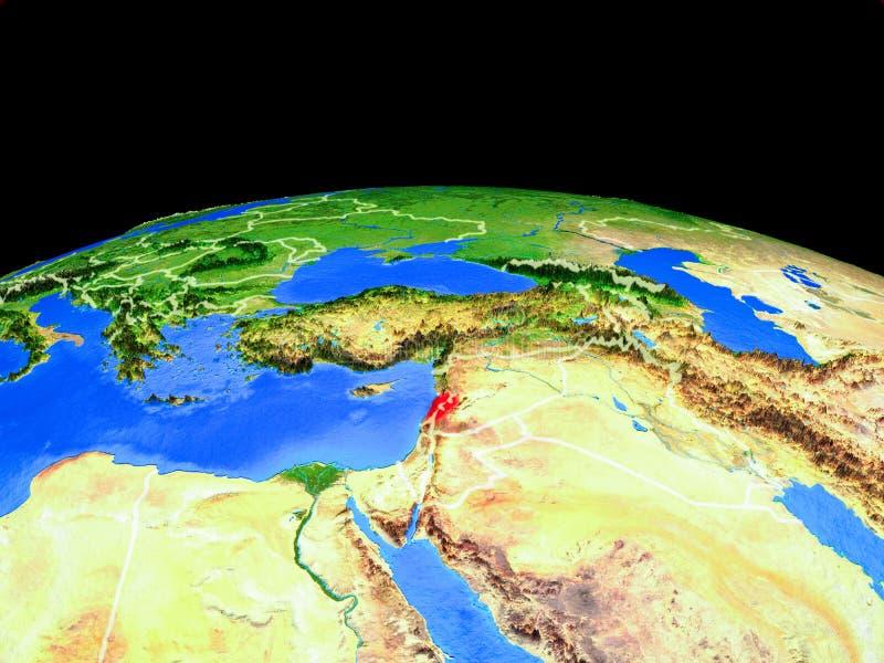 Líbano del espacio en la tierra stock de ilustración