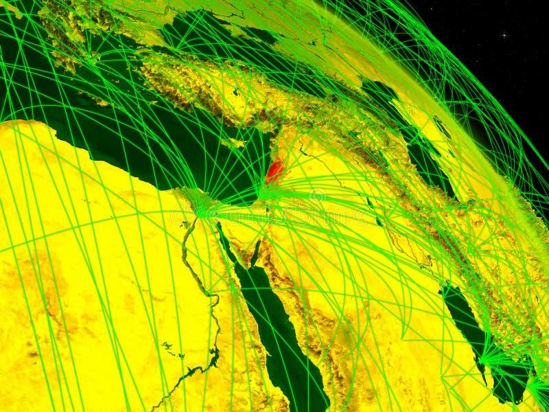 Líbano en el globo digital stock de ilustración