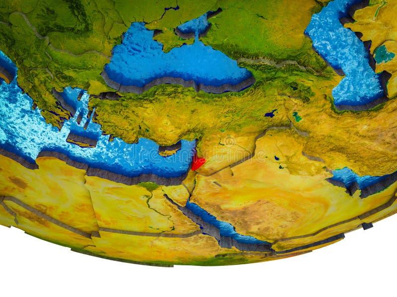 Líbano en la tierra 3D stock de ilustración