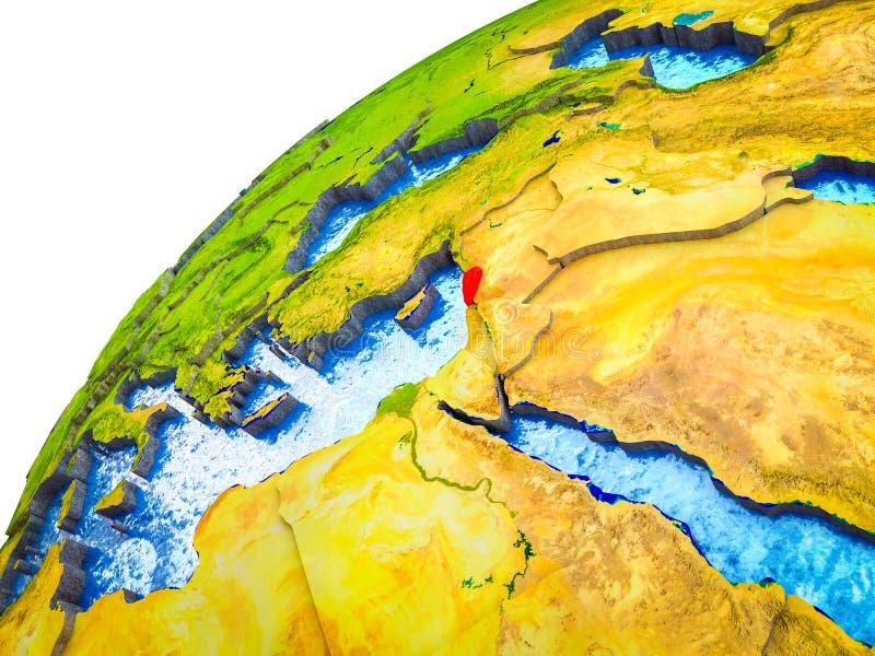 Líbano en la tierra 3D libre illustration