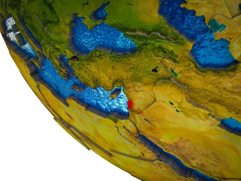 Líbano en la tierra 3D ilustración del vector