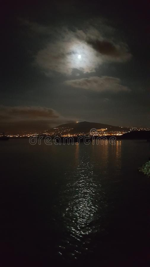 Líbano na noite imagem de stock
