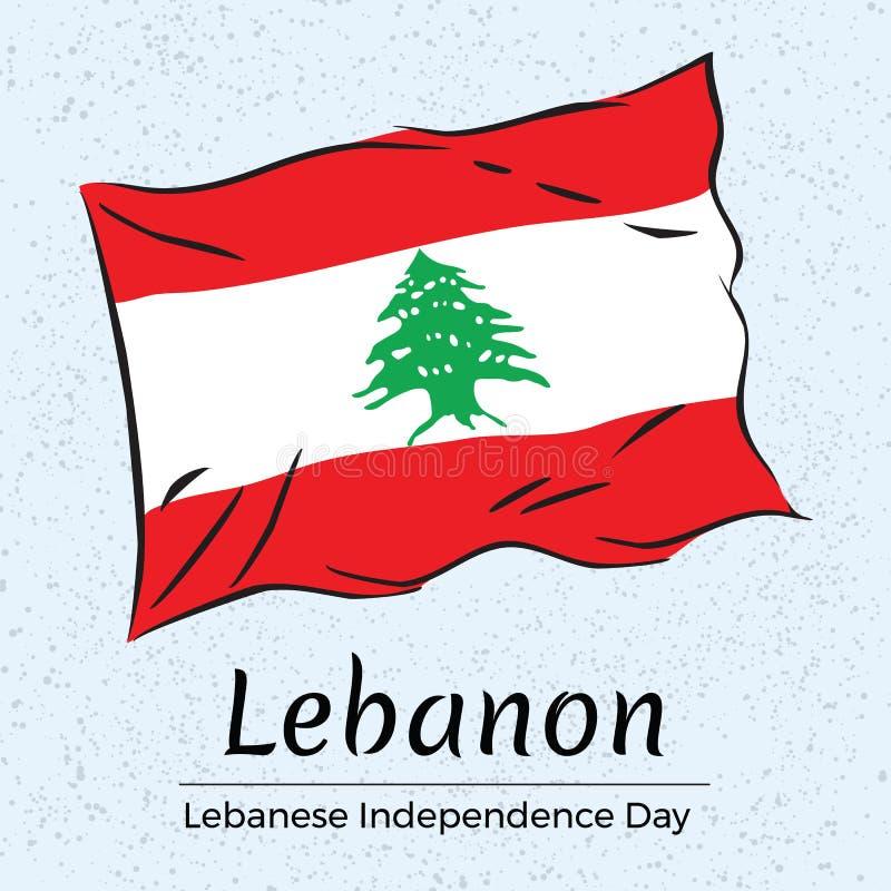 Líbano Tarjeta de felicitación libanesa del Día de la Independencia foto de archivo