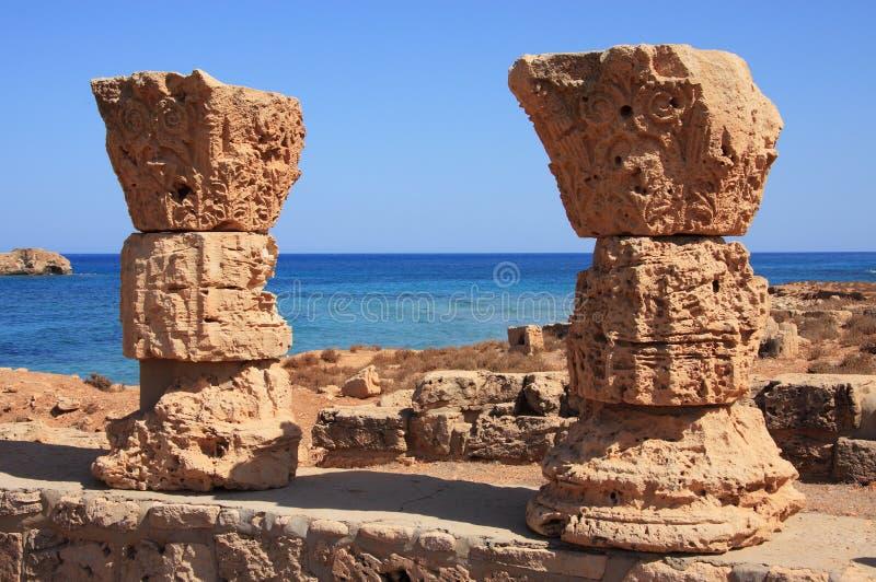 Líbia Cyrenaica Apollonia imagens de stock royalty free
