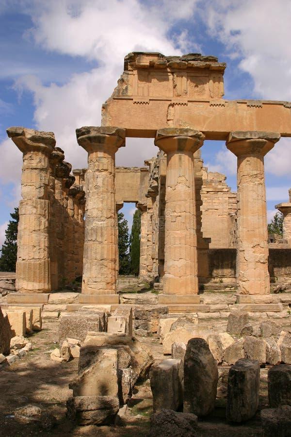 Líbia, Cyrene, templo do Zeus foto de stock