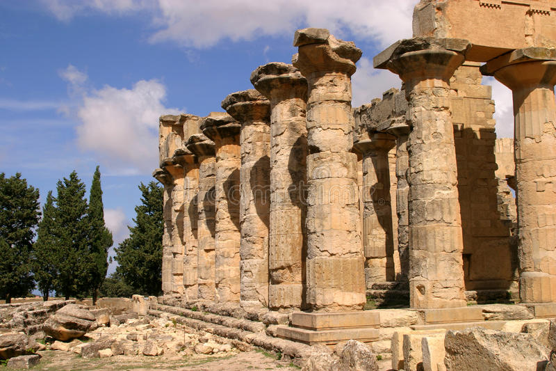 Líbia, templo do Zeus fotografia de stock