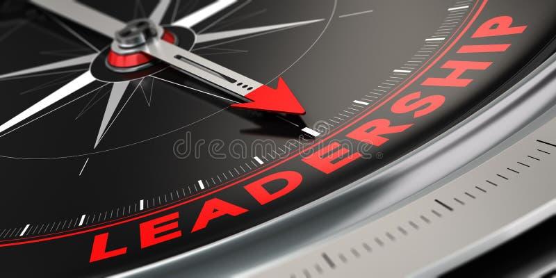 Líder acertado, concepto de la dirección ilustración del vector