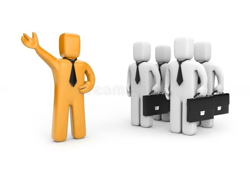 Líder con el equipo ilustración del vector