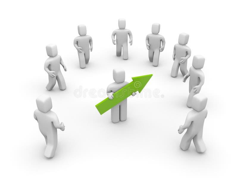 Líder con la flecha. Manera al éxito stock de ilustración