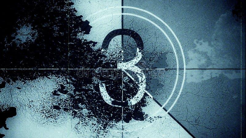 Líder Countdown Frame Three do filme Ilustração 10839 ilustração royalty free
