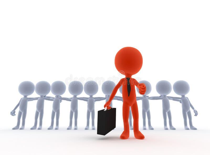 Líder da equipa do negócio, saliência ilustração stock