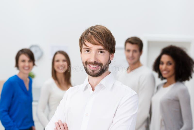 Líder da equipa seguro do negócio fotografia de stock royalty free