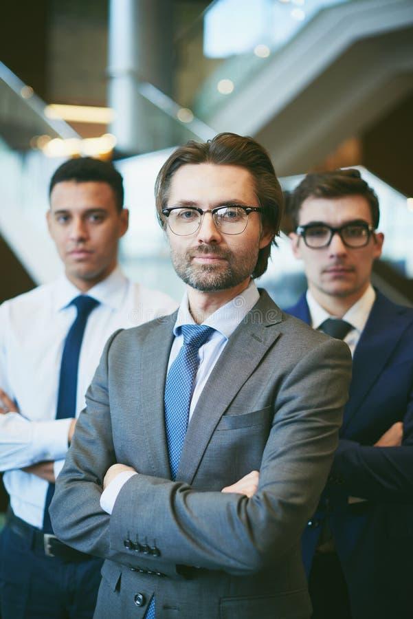 Líder da equipe do negócio fotografia de stock
