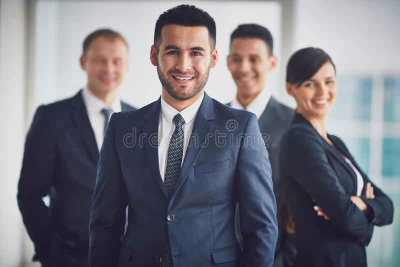 Líder de equipe imagem de stock